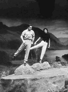 Gene Kelly and Cyd Charisse rehearsing on the set of Brigadoon (Vincente Minnelli, Old Movie Stars, Classic Movie Stars, Classic Films, Golden Age Of Hollywood, Classic Hollywood, Old Hollywood, Hollywood Glamour, Hollywood Couples, Hollywood Actresses