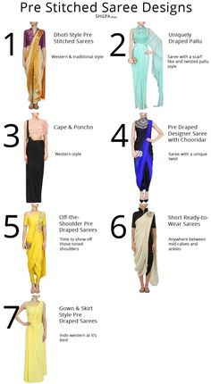 7 Pre Stitched Saree Designs to Try for Your Next Party From off-shoulder to dhoti style, discover the latest pre stitched saree trends from fashion weeks and designer collections! Indowestern Saree, Dhoti Saree, Saree Gown, Anarkali, Drape Sarees, Hijab Saree, Salwar Kameez, Trendy Sarees, Stylish Sarees