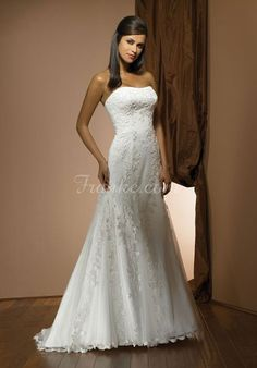 a-line strapless applique tulle long wedding dress - Frankc.com Jacket  Wedding Dress 0fd0119d8bf1