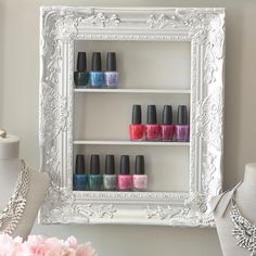 """69 Likes, 2 Comments - Amy (@pinkofperfectonetsy) on Instagram: """"Our magnificent frame now available in silver!  #nails #nailpolishaddict #nailpolish #manicure…"""""""