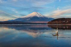 https://flic.kr/p/QoJcQu | Morning Fuji at Swan Lake | 山中湖 平野 2016:12:19 07:10:20
