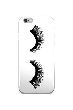 Your dream lashes are here. This case is sleek and durable. The white case will fit your phone perfectly, and it protects from scratches, dust, oil, and dirt. It's practically your best friend. The sm