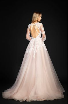 Main Image - Hayley Paige Winnie Long Sleeve Lace & Tulle Ballgown (In Stores Only)