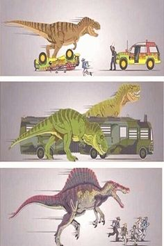 The Jurassic Park's (not including Jurassic World) Jurassic Park Film, Jurassic Park World, Jurassic Movies, Michael Crichton, Jurrassic Park, Park Art, Dinosaur Drawing, Dinosaur Art, Dinosaur Funny