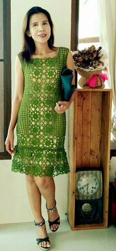1-5 traje verde bello