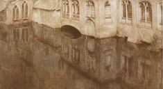 In Bruges, St. John's Hospital by Fernand Khnopff (1858-1921). c. 1904. Pastels on paper. 28 x 49 cm.