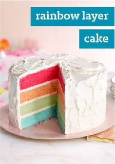 Rainbow Layer Cake – A mix of fruity JELL-O flavors gives this impressive layer cake its rainbow of colors. And making one is a whole lot easier than you might think!