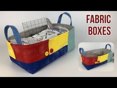 Fabric Boxes Tutorial, Fabric Storage Boxes, Diy Box, Sewing Projects For Beginners, Fabric Crafts, Diaper Bag, Bags, Futons, Youtube