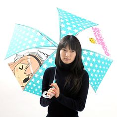 Nitroplus' cute mascot character Sonico is now an *ita-gasa*, or anime character umbrella from Seasonal-Plants! This 60-cm vinyl umbrella features a cute chibi chara version of Sonico and the Super Sonico logo with a bright blue and white star-patterned background. It also comes with a pin badge of the same design! Stay dry and fashionable with this adorable ita-gasa umbrella!