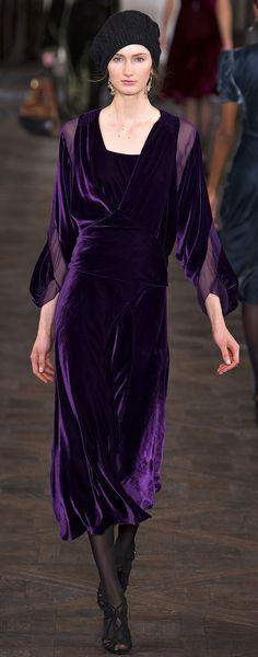 Ralph Lauren Fall 2013. Love the purple!