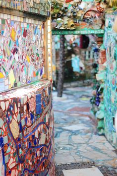 I would love love love to have my wedding, or an engagement shoot at Philadelphia's Magic Gardens!