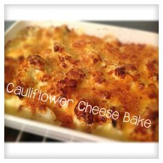 """The """"I Love Your #Cauliflower Cheese Bake"""" #recipe for #Thermomix"""