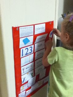 the red kitchen: Simple & Effective Daily Preschool At Home - I love her ideas about the daily schedule and the calendar
