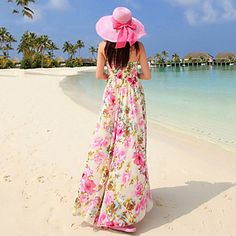 Women's The Sexy Goddess That Wipe a Bosom Beach Dress (Chiffon) – USD $ 51.99
