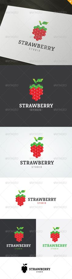 Strawberry Studio Logo  #GraphicRiver         This logo design for all creative business. Consulting, Excellent logo,simple and unique concept.  Logo Template Features   AI and EPS (Illustrator 10 EPS) 300PPI  CMYK  100% Scalable Vector Files  Easy to edit color / text  Ready to print  Font information at the help file    If you buy and like this logo, please remember to rate it. Thanks!     Created: 16May13 GraphicsFilesIncluded: VectorEPS #AIIllustrator Layered: No MinimumAdobeCSVersion…