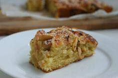 Rabarberkage med marcipan og appelsin