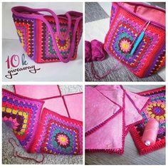 Best 9 Latest And Modern Design for Crochet Designs Ideas – Page 486740672227940926 – SkillOfKing. Crochet Tote, Crochet Handbags, Crochet Purses, Diy Crochet, Crochet Stitches, Sac Granny Square, Knitting Patterns, Crochet Patterns, Crochet Designs
