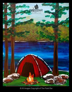 Campfire Days Painting - Jackie Schon, The Paint Bar