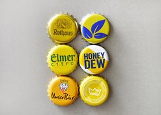 Yellow Bottle Caps magnets recycled 6 Magnets this order is for the 1 picture very decotative on your fridge, wall, etc. Bottle Cap Magnets, Yellow, Pictures, Inspiration, Mesh Hats, Summer Recipes, Photos, Biblical Inspiration, Inhalation