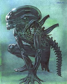 Alien Xenomorph by Cam Kennedy Alien Vs Predator, Predator Movie, Aliens, Alien Origin, Giger Alien, Arte Alien, Giger Art, Alien Covenant, Alien Creatures