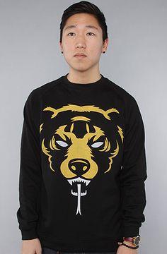 The Oversized Death Adders Crewneck Sweatshirt in Black by Mishka
