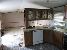 [d]some mobile home counter tops are very hard to replace but you can fix them with some car body fill.[/d] [d]In this picture if look to the far right you can…