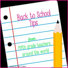 Math, Science, Social Studies......Oh, my!: 5th Grade Goes Back To School - Blog Hop and Giveaway