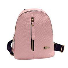 82465d0cf Clode® Mochilas de cuero de la PU de la mujer bolso mochilas viaje Cartera  De