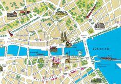 Mapa Zurich - Plano de Zurich
