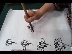 Korean painting (chrysanthemum),한국화(국화 그리기) - YouTube