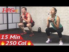 15 Min Kettlebell Workout - Kettlebell Workouts for Fat Loss & Strength Training Exercises Men Women - YouTube