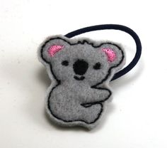 Koala Ponytail by ZandyLand on Etsy,