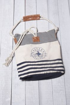 Eastern Shores Apparel & Accessories Nautical Striped Cotton Bag - Navy
