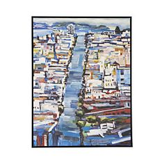 "Union Street Print - Kim Kitz Artist in San Anselmo Crate and Barrel print $480 38"" x 50"""