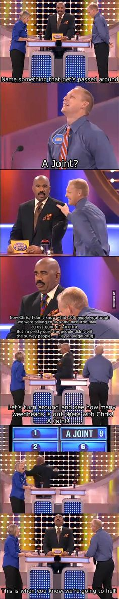 This show is one of my favorites now that Steve Harvey is on it! He is AWESOME and HILARIOUS!!! :)