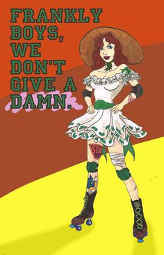 Roller Derby flyer I found on Tumblr.  Love it!