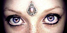 Psyche Bindi, fantasy jewelry, tribal fusion, fairy, opal, wicca, pagan, goddess, skin accessory, bellydance costume, gypsy, magic, elven on Etsy, $18.49 CAD