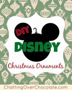 DIY Disney Christmas Ornaments!   Chatting Over Chocolate