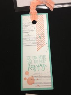 Stampin' Up! Happy bookmark gorgeous grunge