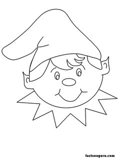 Christmas Elf Coloring Pages For Kids - Elf Coloring Pages Printable