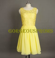 Cheap+Short+Yellow+Lace+Bridesmaid+Dress+Aline+by+GorgeousProms,+$79.99 Lace Bridesmaid Dresses, Wedding Bridesmaids, Daughters, To My Daughter, Wedding Stuff, Wedding Ideas, July Wedding, Yellow Lace, Got Married