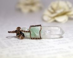Handcrafted with a raw fuchsite phantom quartz crystal and pure copper wire, this healing pendant is a powerful tool for regeneration. #fuchsite #fuchsitephantom #fuchsitephantomquartz #fuschite #rawcrystals #rawcrystalpendant #rawcrystaljewelry #wirewrappedcrystals #wirewrappedjewelry #healingjewelry #metaphysicalcrystals #healingcrystals #greenphantomquartz #muscovite