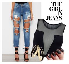 """""""distressed denim"""" by calihotgirl1 ❤ liked on Polyvore featuring Varley and Thalia Sodi"""