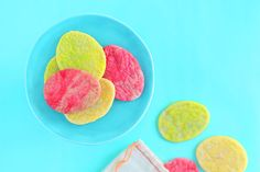 Add a few drops of food coloring to sugar cookie dough to make these marbleized Easter egg cookies.