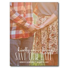 Rustic Vintage Photo Save the Date Announcement Postcard Save Save The Date Photos, Save The Date Postcards, Save The Date Cards, Vintage Save The Dates, Rustic Wedding Save The Dates, Outdoor Wedding Invitations, Save The Date Invitations, Invites, Card Wedding