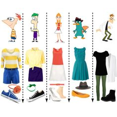 """Phineas and Ferb"" I've never even seen this show, but I love how they incorporated the patterns and colors!"