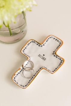 Blessed Cross Trinket Tray