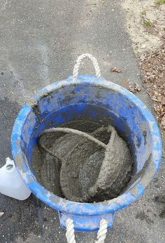 turn your wicker basket into a hypertufa concrete garden basket, concrete masonry, container gardening, crafts, gardening, repurposing upcycling