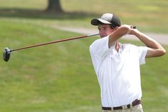 Strasburg High School's Clarence Seward hits his tee shot on the seventh hole during Monday's Inter-Valley Conference Preseason Tournament. Seward was tournament medalist with a two-under par 70.