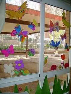 decoracion aula preescolar - Buscar con Google Kindergarten Art, School Decorations, Window Art, Wall Design, Origami, Diy And Crafts, Projects To Try, Art Gallery, Ramen